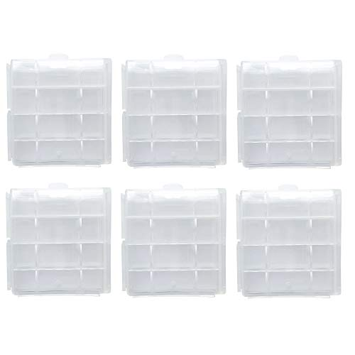 Battery Storage Case for AA/AAA, Battery Holder Box (6Pack Clear)