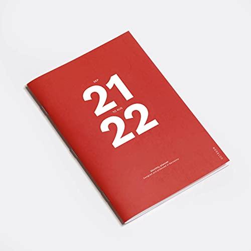 Octàgon Design Maandplanner (ept21 tot Ago22), A4, rood