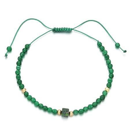 Mini pulsera de esmeralda ajustable