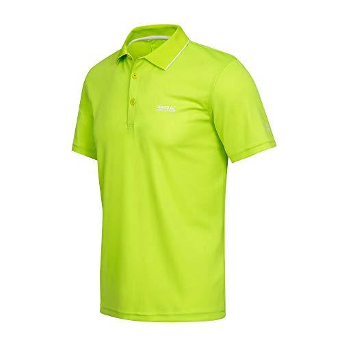 Regatta RMT221 Maverick V Herren Poloshirt mit Strickkragen schnelltrocknend, Groesse 50, neongrün