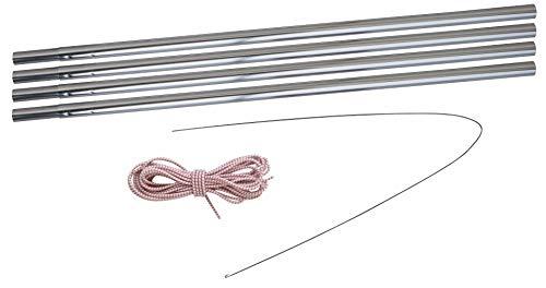 Eurotrail Kit de barre en aluminium Argenté 8,5 mm 400-450 cm