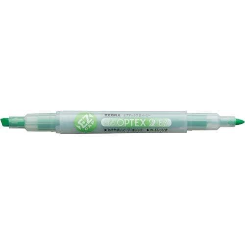 ゼブラ 蛍光オプテックス2EZ 緑 10本入
