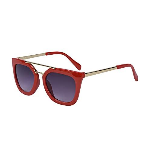 BESBOMIG besbomig Kinder Sonnenbrille für Jungen und Mädchen 6-12 Jahre Kindersonnenbrille Rechteckig UV400 Schutz Klassiches Retro Brillen Sicher, Leicht und Komfortabel