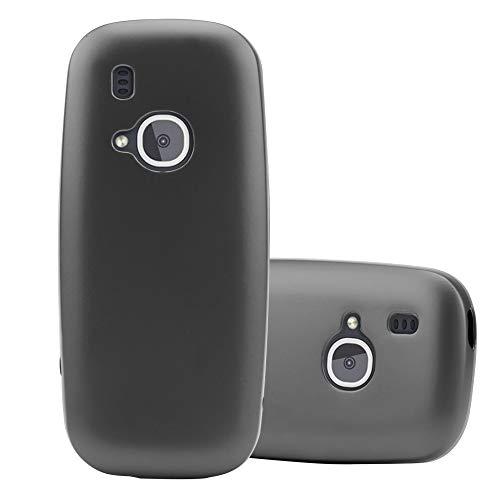 Cadorabo Hülle für Nokia 3310 in METALLIC GRAU - Handyhülle aus flexiblem TPU Silikon - Silikonhülle Schutzhülle Ultra Slim Soft Back Cover Hülle Bumper