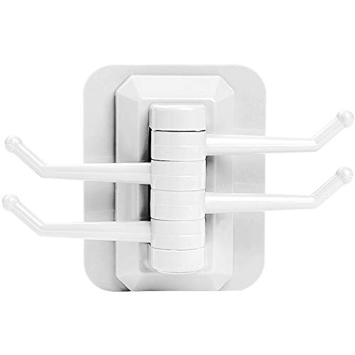 ZXJBM Multi-Purpose Hooks Kitchen Bathroom Rotating Wall Sucker Vacuum Suction Hook Towel Hanger Holder Home Organizing Suction Hanger (Color : White)