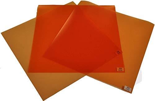 Filterset Farbkorrektur CTO (24cmx30cm) Tageslicht zu Kunstlicht (Glühlicht) Rosco
