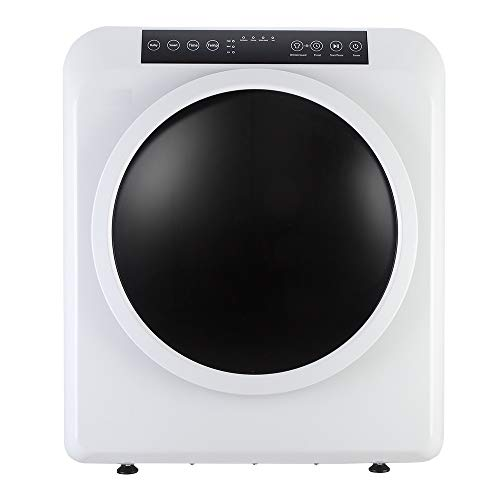 Bonnlo 13.2LBS Portable Clothes Dryer, 3.22 Cu.Ft Compact Front Load Tumble Laundry Dryer w/Stainless Steel Tub, High End Touchscreen Control, White