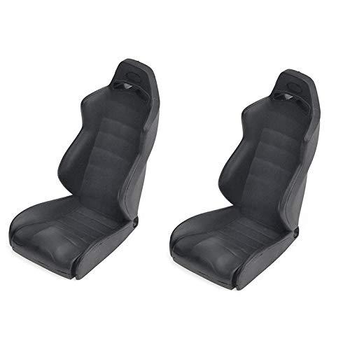 Nrpfell 1/10 Simulation Dekoration Fahrer Sitz für Cc01 Axial Scx10 Rc4Wd D90 Tf2 -4 Trx4 1/10 Rc Crawler, Schwarz 2 StüCke