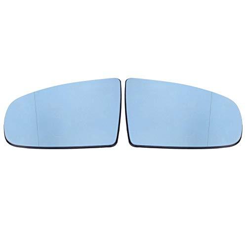 KIMISS 1 par de Espejos retrovisor gran angular espejo de espejo, HD Espejo climatizado de lado izquierdo y derecho para X5 E70 2008-2013, azul