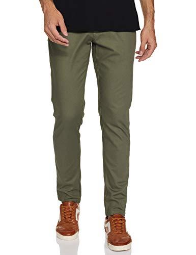 blackberrys Men's Skinny fit Clean Front Casual Trouser Pants (EK-Oslo-PX # Bottle Green_ME Large)