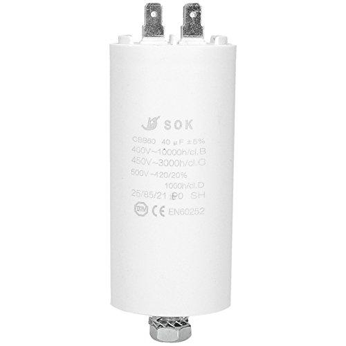 ✧WESSPER® Condensateur de réfrigération lave-vaisselle universel pour Teka 40uF 450V