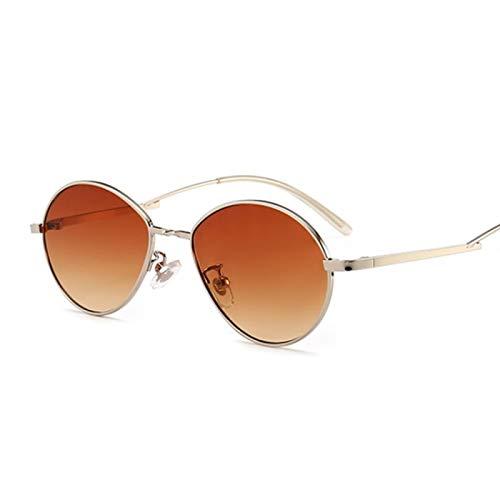 ShSnnwrl Único Gafas de Sol Sunglasses Gafas De Sol Ovaladas Pequeñas De Colores Dulces Populares para Mujer con Montura Metálica