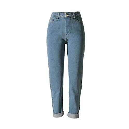 XinXinFeiEr Estiramiento Estilo De La Calle De Moda Los Pantalones De Mezclilla Modelos Populares De La Cintura Recto Flojo Casual (Color : Light Blue, Size : 30)