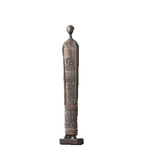 BANZINL Afrika Statue,Tabelle Kernstück Dekorativ Figuren Kunst Skulptur Kommode Wurzelholz Mantel Bereich Zuhause Möblierung Kunsthandwerk-A