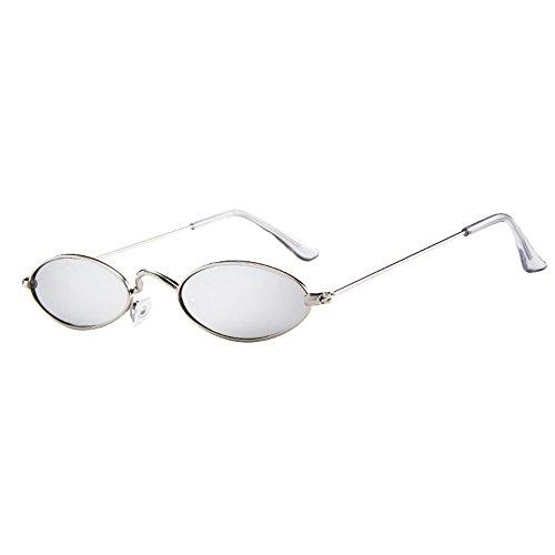 Honestyi Retro ovale Sonnenbrille der Art und Weisemännerfrauen Metallrahmen schattiert Eyewear Kleine ovale Brille # 183
