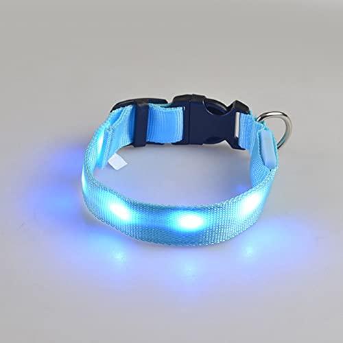 Bellaluee Collar de Entrenamiento para Perros con luz automática LED Brillante al Aire Libre Collar antiladridos Ajustable con emisión de Fluorescencia