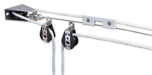 Windhager Montageset Seilzugsystem, Montage-Komplett-Set zum Spannen und Verschieben von Markisen und Sonnensegel, 10884 weiß