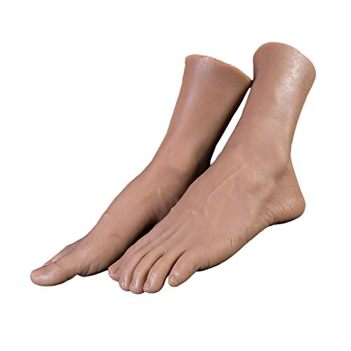Amagogo TPE Zapatos Realistas Calcetines Sandalias Mostrar Pies de Pedicura Modelo de Maniquí