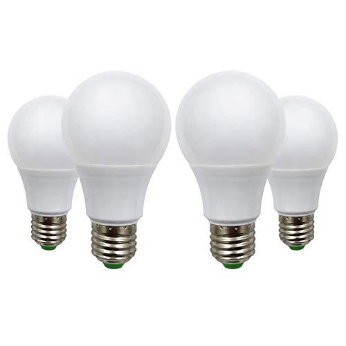 Bombillas LED E27 12 V 5 W (A60 50 W halógeno) bajo voltaje Edison Screw en bombillas blanco cálido 2700 K, lote de 4