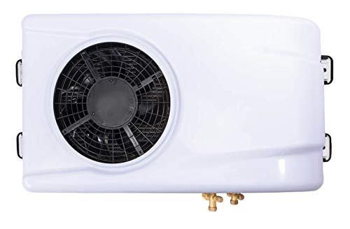 ACDC 12V Air Conditioner, Battery Powered, 6000 BTU, 20 SEER, R134A Refrigerant Pre-filled, Mini-Split A/C with 10ft Rubber Hose and Complete Installation Kit