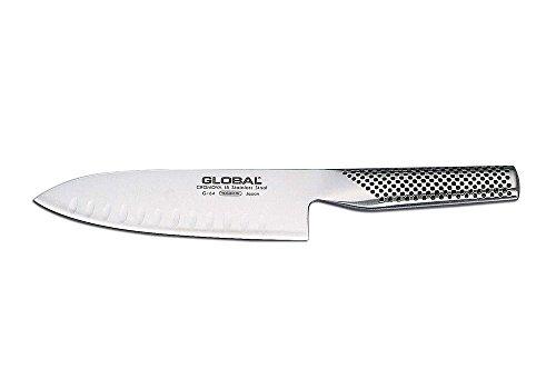 Global G-64 Santoku Fischmesser mit Kullenschliff 16 cm