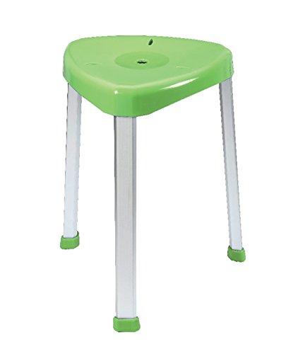 FabaCare Premium Eck-Duschhocker Duschschemel, Hocker 7-fach höhenverstellbar 42,5-58 cm, Badhocker grün, Easy To Clean Spezialversiegelung, bis 136 kg