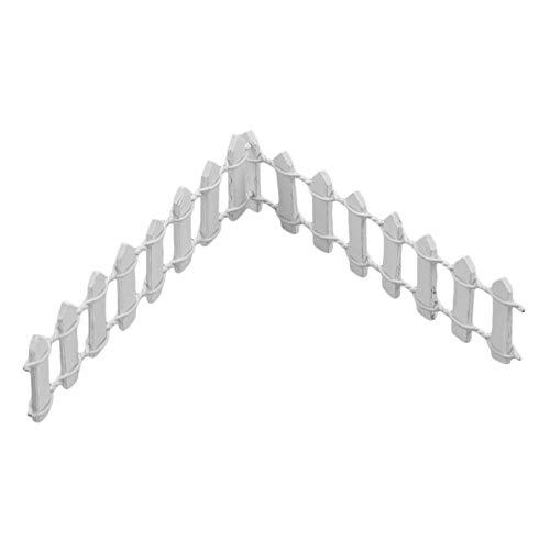Eleusine Packung mit 10 Mini Fairy Garden Zaun Holz dekorative Zaun Puppenhaus Sukkulenten Blumentopf DIY dreidimensionales Modell (weiß)