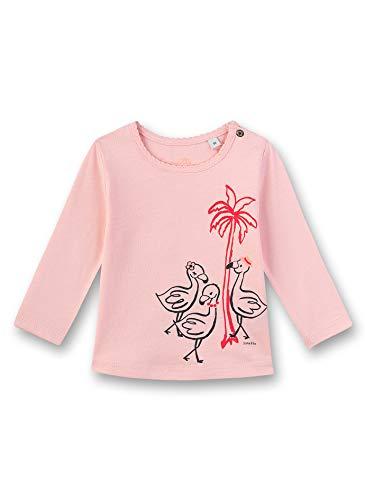 Sanetta Baby-Mädchen Langarmshirt, Rosa (Rose 38099), 86 (Herstellergröße: 086)
