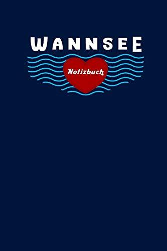 Wannsee Kind Notizbuch: Kariert, 120 Seiten, 6X9inch (Ca. Din A5)