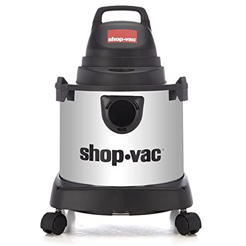 Shop-Vac 4010427 Aspiradora húmeda/Seca, Tanque de Acero Inoxidable, 4 galones, Manguera de 1-1/4...