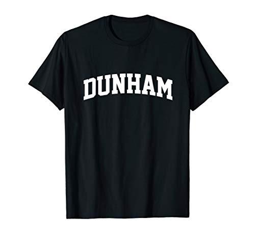 Dunham Name First Last Retro Sports Arch T-Shirt