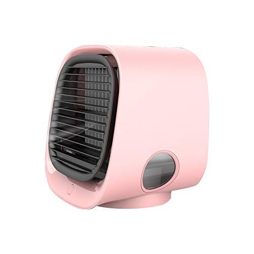 Dyyicun12 Luchtkoeling Ventilator, Draagbare Mini USB LED Stille Airco Luchtbevochtiger Koeler Anion Koeling Ventilator