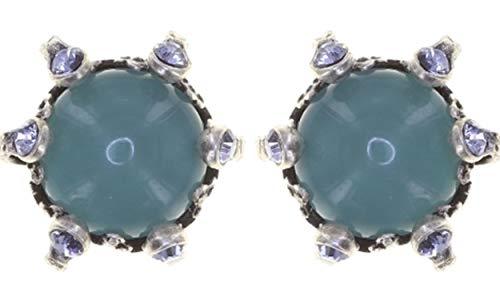 Ohrstecker COUNTRY SPRING | KONPLOTT - Exklusiver Modeschmuck mit Swarovski Elements | Ohrringe mit Glitzer-Steinen | Ohrschmuck für Damen in Blau