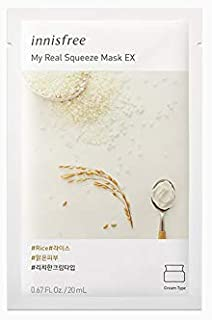 Innisfree My Real Squeeze Mask-Rice EX 20mL 15 sheets (2019)