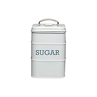 Living Nostalgia Sugar Canister, 11x17cm, Grey, Tagged