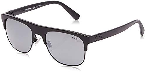 Polo Ralph Lauren Herren 0PH4132 Sonnenbrille, Schwarz (Shiny Black), 55