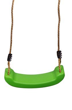 SUMMERSDREAM Rigid Child Swing Set Heavy Duty Swing Seat for Kids  Outdoor Durable Tree Swing for Children Play Ground  Strong Nylon Rope Indoor Swing Lime Green