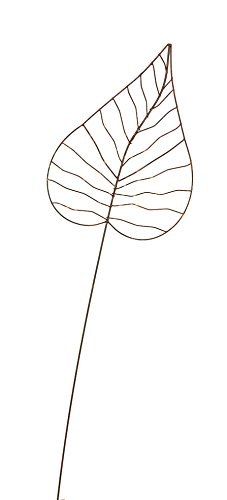 Crispe home & garden Gartenstecker Edelrost - Herzblatt groß | Rankhilfe Gartendeko Höhe 140 cm