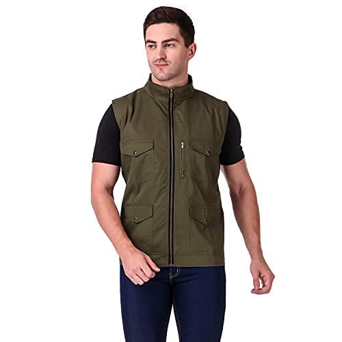 Delexo Men's Cotton Half Jacket