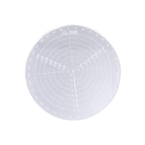 DOITOOL 1 Stück Runder Center Finder Kompass Klar Acryl zum Zeichnen von Kreisen Dreharbeiten Und Holzdreher (Zeichnen von Kreisen Durchmesser 20Cm)