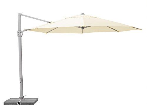 Suncomfort by Glatz Sunflex, ecru, 350 cm rund, Gestell Aluminium, Bespannung Polyester, 28 kg