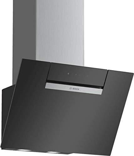 Bosch DWK67EM60 Serie 2 Wandesse / B / 60 cm / Schwarz / wahlweise Umluft- oder Abluftbetrieb / TouchSelect Bedienung / Intensivstufe / Metallfettfilter (spülmaschinengeeignet)