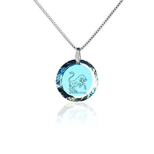 Silberkette Halskette 925 Silber Sternzeichen Tierkreiszeichen Stier hergestellt mit Swarovski®Kristall