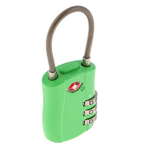 SDENSHI TSA Luggage Traveling Suitcase Bag Lock 3 Digit Combination Padlock -TSA002 - Green