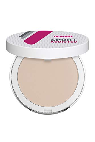 PUPA/Milano Sport Addicted Powder. Sweat and Water Resistant Compact Powder (001 Rose Beige), 80 g