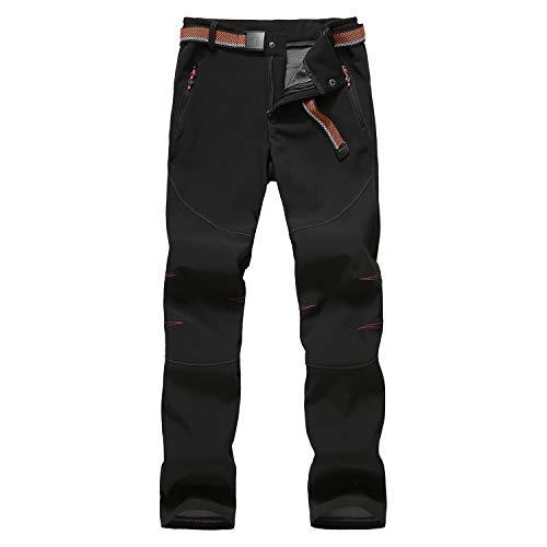 LHHMZ Women Outdoor Windproof Winter Trousers Comfortable Warm Fleece Hiking Snow Ski Trousers Walking Pants