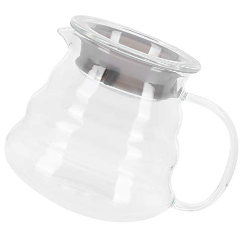 Carafe à café en verre, pot de serveur de café transparent stable, pour le bureau à domicile(300ml)