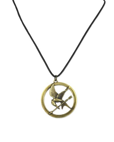 The Hunger Games Necklace Pendant Necklace On Leather Cord 'Brooch'