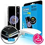 Galaxy S9 Plus Screen Protector, [Dome Glass] Full Coverage 3D Curved Tempered Glass Shield [Liquid Dispersion Tech] Easy Install by Whitestone for Samsung Galaxy S9+ (2018) - 2 Pack