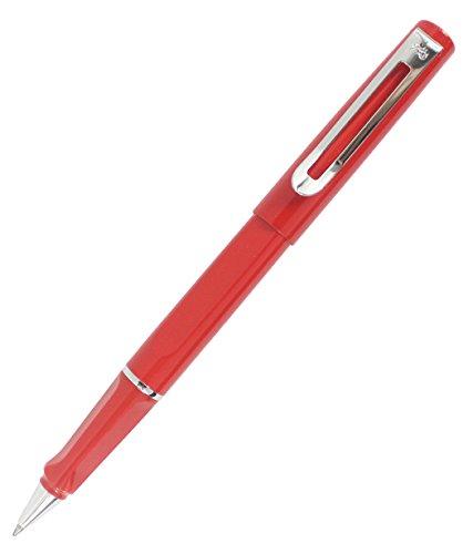 Abcsea Comfort Grip Metal Pen Barrels Rollerball Pen Fine Writing Instruments - Red